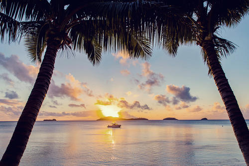 Sunset Cruise at Kokomo Private Island Fiji
