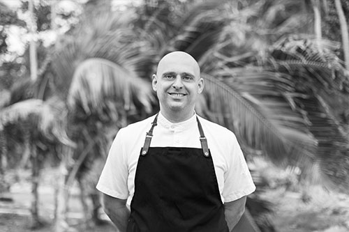Vincenzo Maione, the Head Chef at Kokomo Private Island Fiji