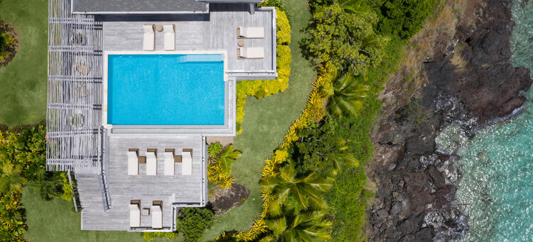 An aerial view of a Residence at Kokomo Private Island Fiji