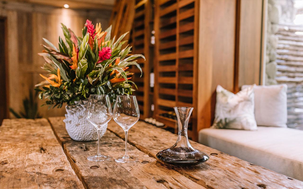 Wine cellar at Kokomo Private Island Fiji